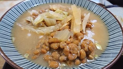 常盤仙:④納豆汁ご飯190815