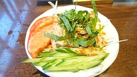さと村:⑤豆腐サラダ350円191122