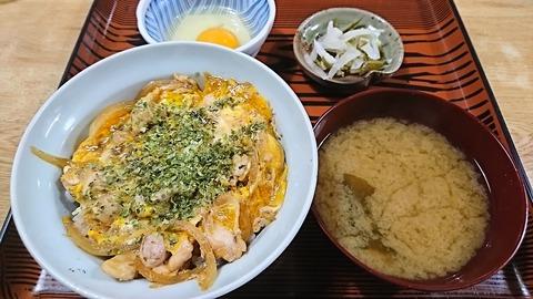 常盤仙食堂:⑨親子丼生たまご190617