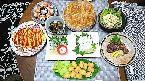 家ご飯10:①肴8品201222