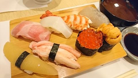 喜久寿司:①特上にぎり2800円171230