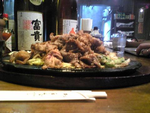 洋食やまぐちさん:?焼肉野菜945横景100712