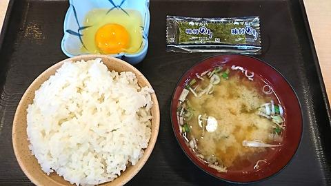 わが家の食堂:①飯卵海苔味噌汁190519