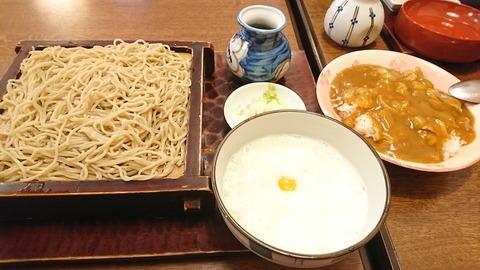 寿々喜:①トロロソバ700ミニカレ丼300円190804