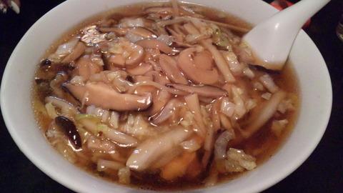 鳳来:⑧椎茸とマッシュルームのメン800円150409