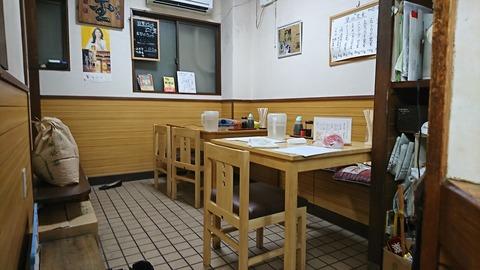 河金:店①奥のテーブル席190922