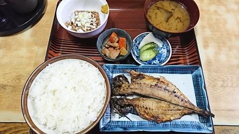 常盤仙食堂:①B定食630納豆80円170829