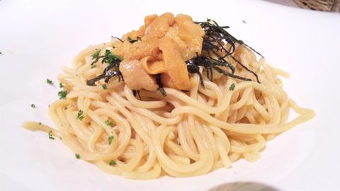 リッチョマニアキッチン:①特製ウニ入リ生パスタ150228