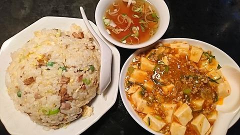 鳳来:①炒飯700マーボー豆腐560円191217