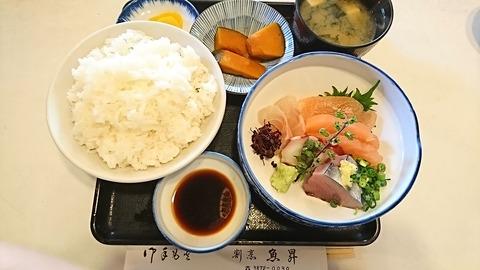 魚昇:①刺身定食飯大盛900円180218