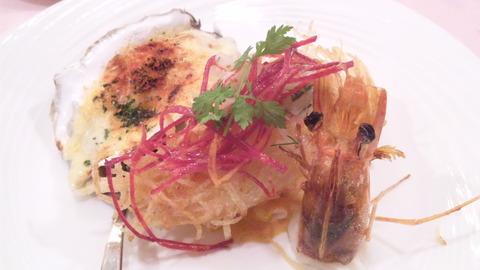 マノス:①カトレアランチケセラン牡蠣チズグラタン121020