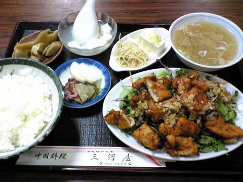 中華料理三河屋:?特別定食1850円全景100614