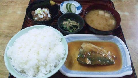 常盤仙食堂:①日替580飯大90納豆80全150323
