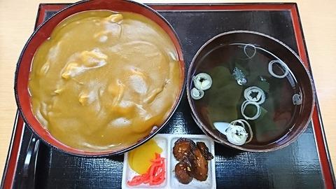 近江家:①カレー丼750円190928