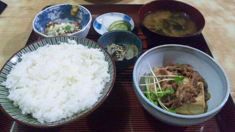 常盤仙食堂:①B定食630納豆80全景161215