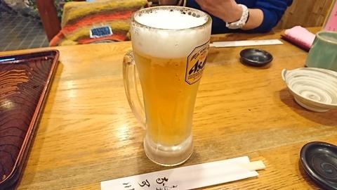 奈可川:②生ビールセット900生ビール181120