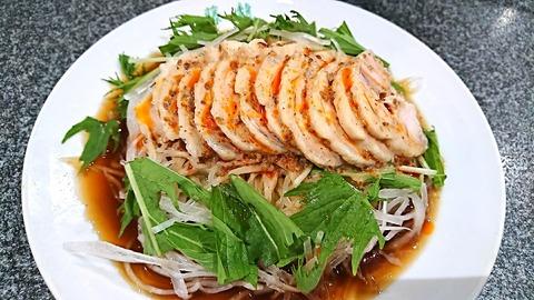 藤龍:①鶏冷し中華950円170901