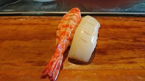 常寿司:①車海老と烏賊191214