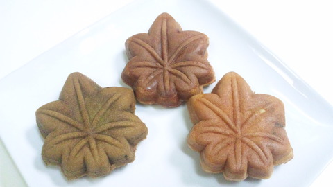 ミヤトヨ本店:①もみじ饅頭三種全景160701