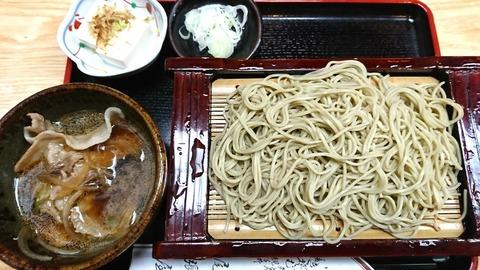 尾張屋:⑫イベリコ豚ノツケ汁ソバ950円191002