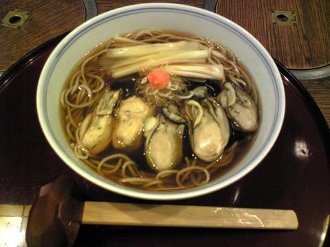 近江家:②牡蠣蕎麦1370円全景101112