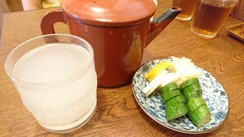寿々喜:②ソバ焼酎蕎麦湯割リ400円190804