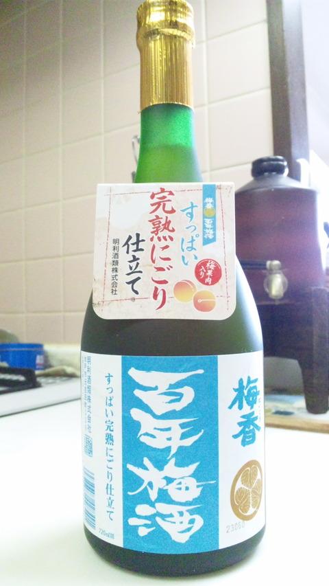 梅香百年梅酒:③ボトル全景150823