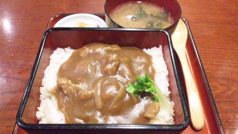 寿々喜:①カレー丼750円全景160705