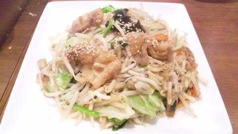 竹:①肉野菜炒め570円160201