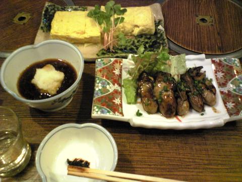 近江家:①出汁巻き玉子かきの京味噌焼き全景101112