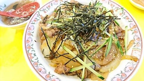 王将:①牛カルビ丼670円170802