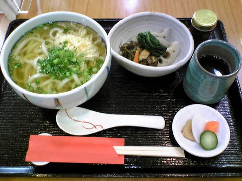 美味一服めぐり:�京うどんセット1100円全景100214