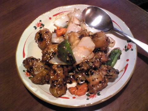 中華食堂好味園:�カキと野菜黒豆炒め1000全091129