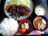 かつ陣:三元豚ヒレ味噌とんかつ膳1600円全景06-01-18