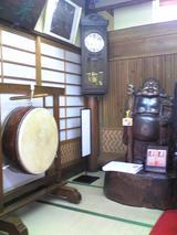 米久本店:店�玄関先の太鼓と大黒090426.jpg