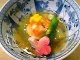 割烹嶋村:茄子と甘鯛と海老の餡かけ05-02-04