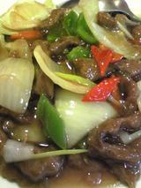 広華:�牛肉のオイスターソース炒め980円拡大100213