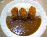 カレ-の店ひよ子:�牡蠣フライカレ-750円全景05-12-28
