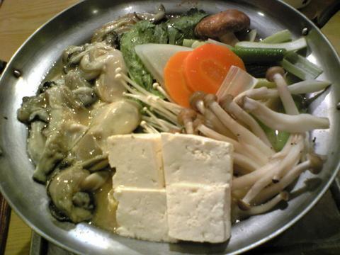 八重寿:�牡蠣鍋1800円全景091128