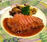 京橋ドンピエール:�鴨胸肉のロースト全景06-02-15