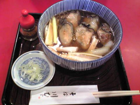 川むら:�牡蠣そば1500円巨大全景081102.jpg