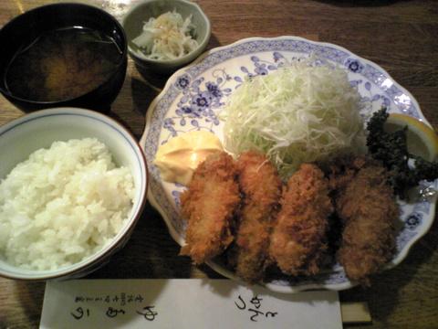 とんかつゆたか:�カキフライ飯豆腐汁巨大全景081108.jpg