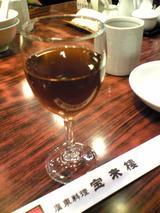 宝来樓:�甕出し紹興酒360円091205