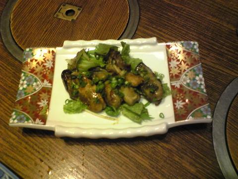 近江家:�カキの京味噌焼お代わり巨大全景081107.jpg