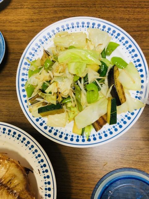 210617野菜炒め