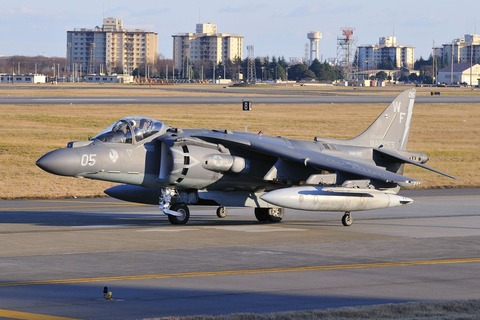 貴重なハリアーが!米軍ハリアー攻撃機、沖縄沖に墜落
