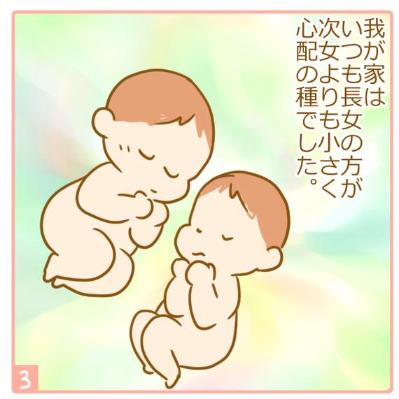 双子妊娠⑭体重差が心配3