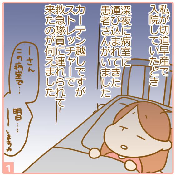双子妊娠⑭夜間の緊急入院02