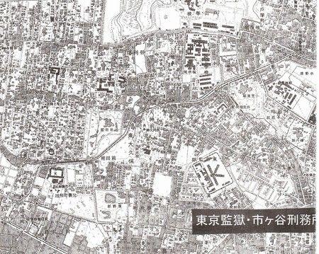 市ヶ谷刑務所陸測図広域