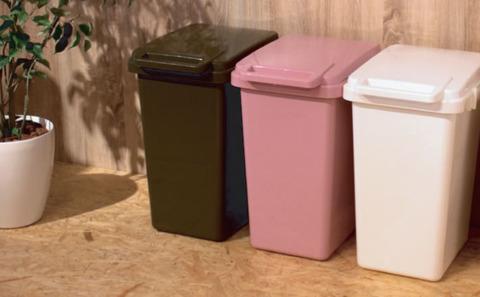 ピンクの45Lの大きいサイズのごみ箱